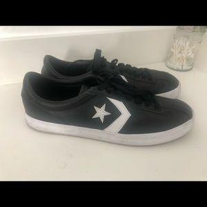 Black and white leather retro Converse